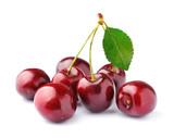 Fototapety Black cherries on white