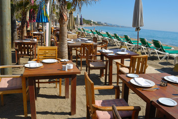 Seaview restaurant in MArbella, Spain