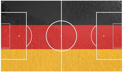 football field textured by germany national flags