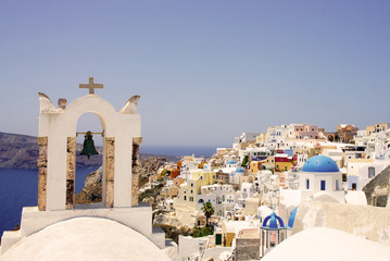 Amazing white houses of Santorini