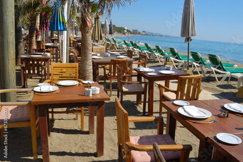 In de dag Buffet, Bar Seaview restaurant in MArbella, Spain