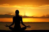 Fototapety Yoga at Beach