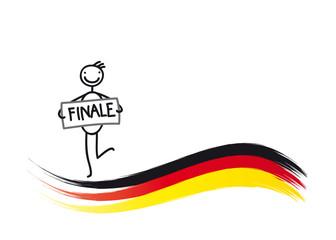 Finale - Deutschland - Flagge
