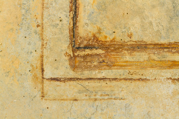 Rust marks on the floor