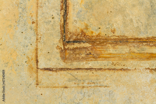 canvas print picture Rust marks on the floor