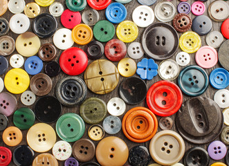 Many different buttons