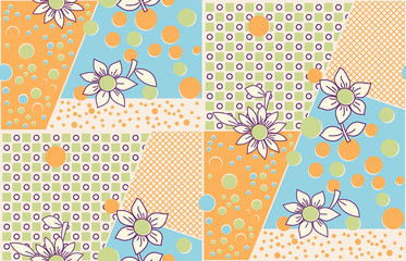 Seamless  cute abstract summer pattern