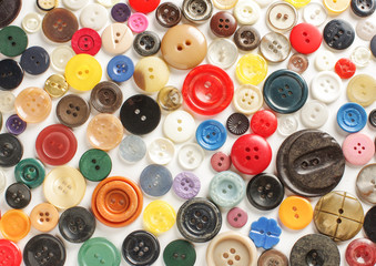 Variety of buttons abstract