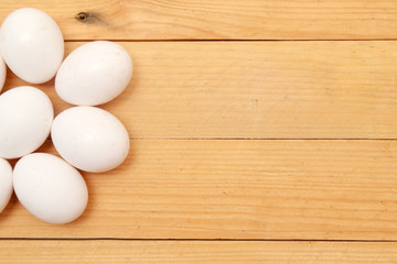 Eggs on the wood