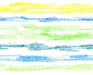 Horizontal seamless stripes by oil pastels