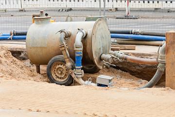 Vakuum Pumpe - Vakuumanlage zur Grundwasserabsenkung