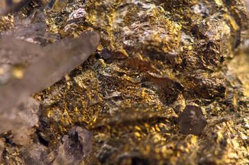 Golden background for You designs, macro photo gem