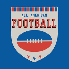 Retro American Football Shield