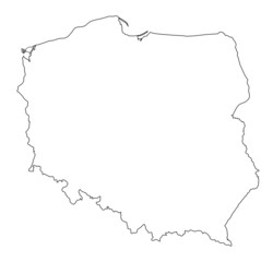 Poland shape map vector