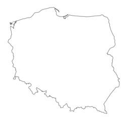 Poland shape map vector