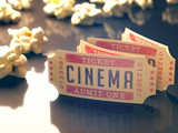 Fototapety Cinema Vintage. Clipping path included.