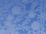 frost ice crystal on window poster