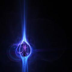 Blue Fractal Orb
