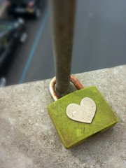 Love padlock affixed in Rome