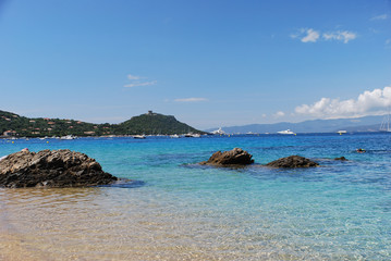 Tour génoise et plage de Campomoro - Sud Corse