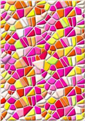 Mosaik in Pink