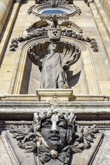 decoration of the facade of Buda Castle, Budapest, Hungary