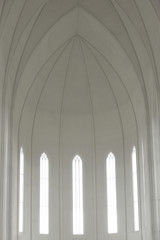 Inside of Hallgrimskirkja Cathedral