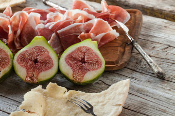 Appetizer With Ham And Figs
