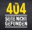 Kreidetafel mit 404 Seite nicht gefunden