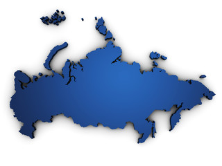 Map Of Russia 3d Shape