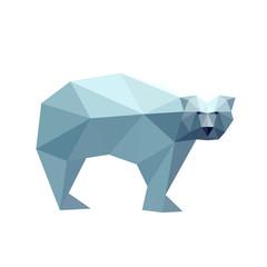 Illustration of polygonal bear