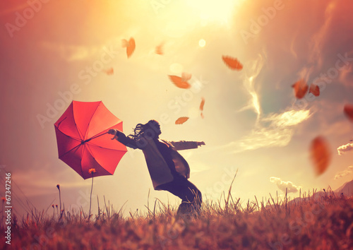 canvas print picture autumn wind 01