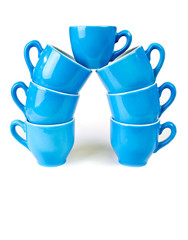 Coffee cup in blue