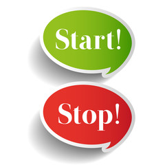 Start Stop symbol label vector