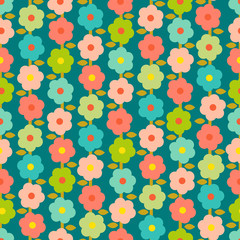 Vintage Seamless Pattern With Small Flowers