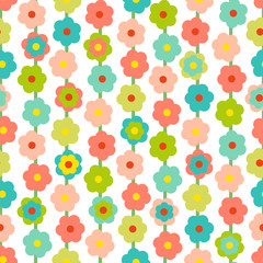 Retro Seamless Pattern With Small Flowers