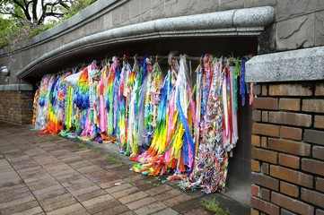 Paper Peace Chains in Nagasaki, Japan