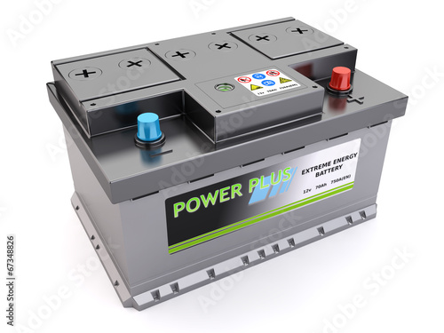 Car battery isolated - 67348826