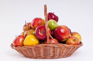 Apples in wicker basket
