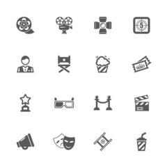 Cinema icons set.