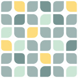 Fototapety Abstract gray yellow rounded squares seamless pattern background