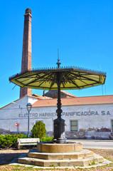 Almodóvar del Campo, Pilar de Abajo, fuente, chimenea