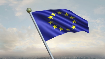 European Union Flag Animation