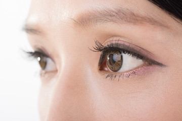 Asian woman eyes
