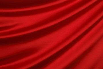 Red silk textile background