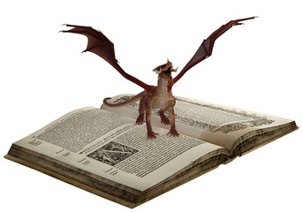 dragon is on the book