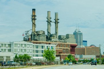 indianapolis skyline from astreet