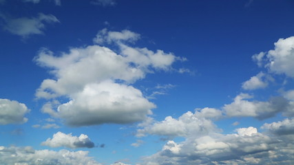 timelapse with beautiful clouds moving