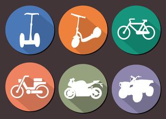 Round vector icons moto