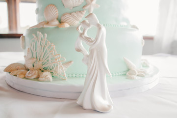 White Porcelain Couple Figurine
